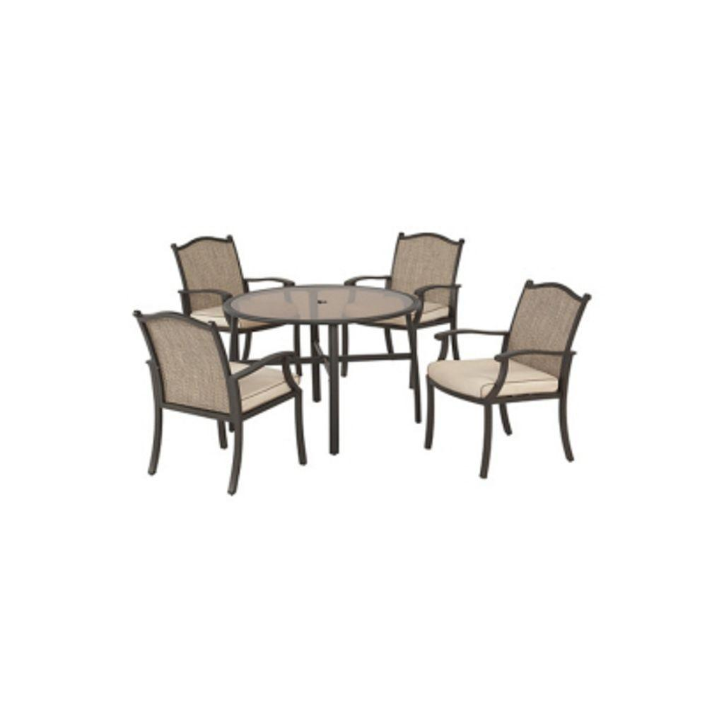 null Edison 5-Piece Patio Dining Set-DISCONTINUED