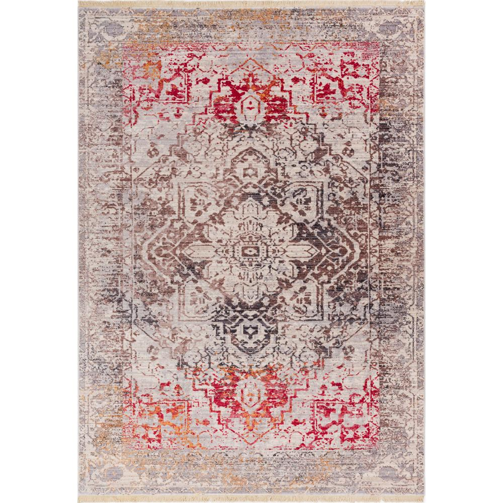 Well Woven Global Treasures Earth Beige 5 Ft. 3 In. X 7 Ft