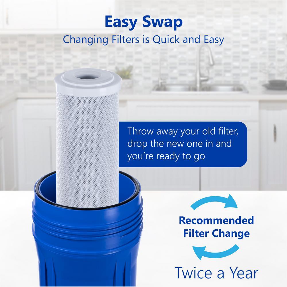 2 Pack Polypropylene Sediment Filter /& 2 Pack Granular Activated Carbon Filter 10 x 4.5 Fil-fresh Whole House Big Blue Water Filter Bundle