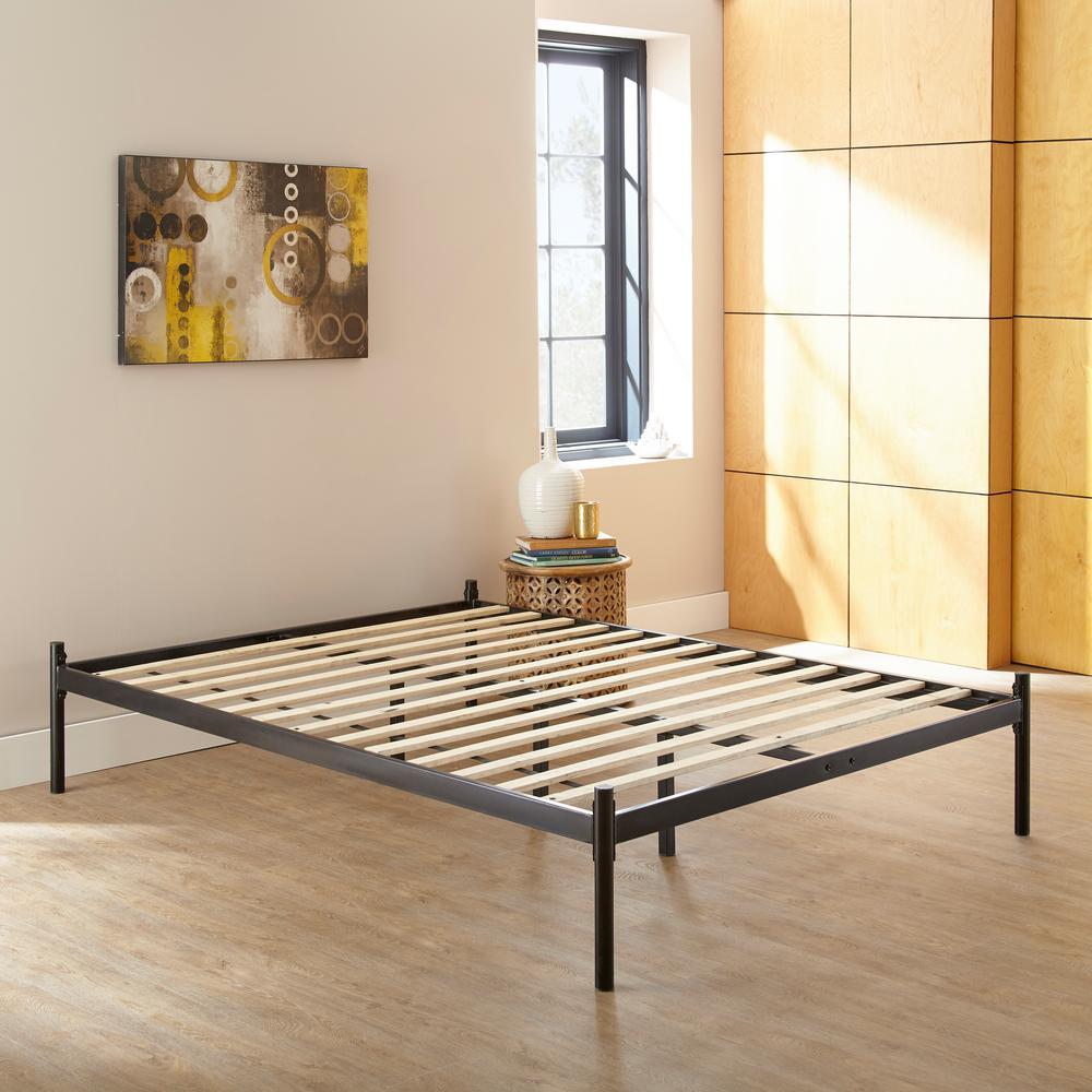 harrison king metal platform bed silver black