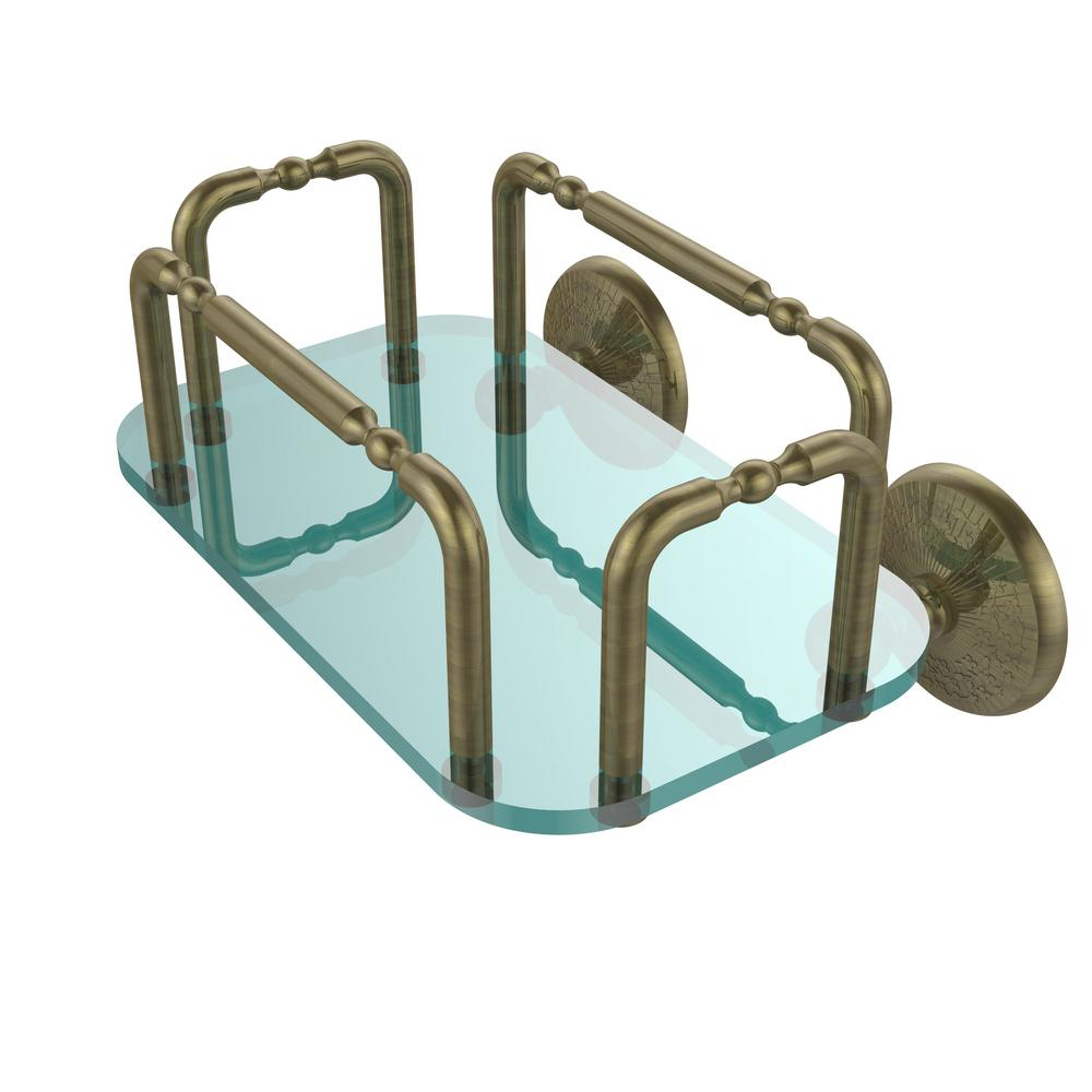 Allied Brass Monte Carlo Wall Mounted Guest Towel Holder in Antique ...