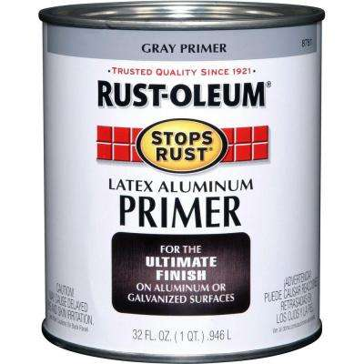 1 qt. Flat Gray Latex Aluminum Primer (2-Pack)