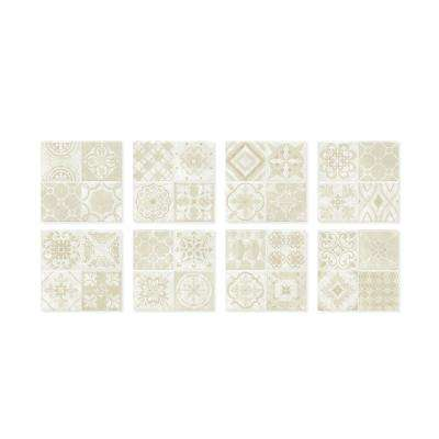 Vintage Venezia 9 in. W x 9 in. H Peel and Stick Self-Adhesive Decorative Mosaic Wall Tile Backsplash (4-Pack)