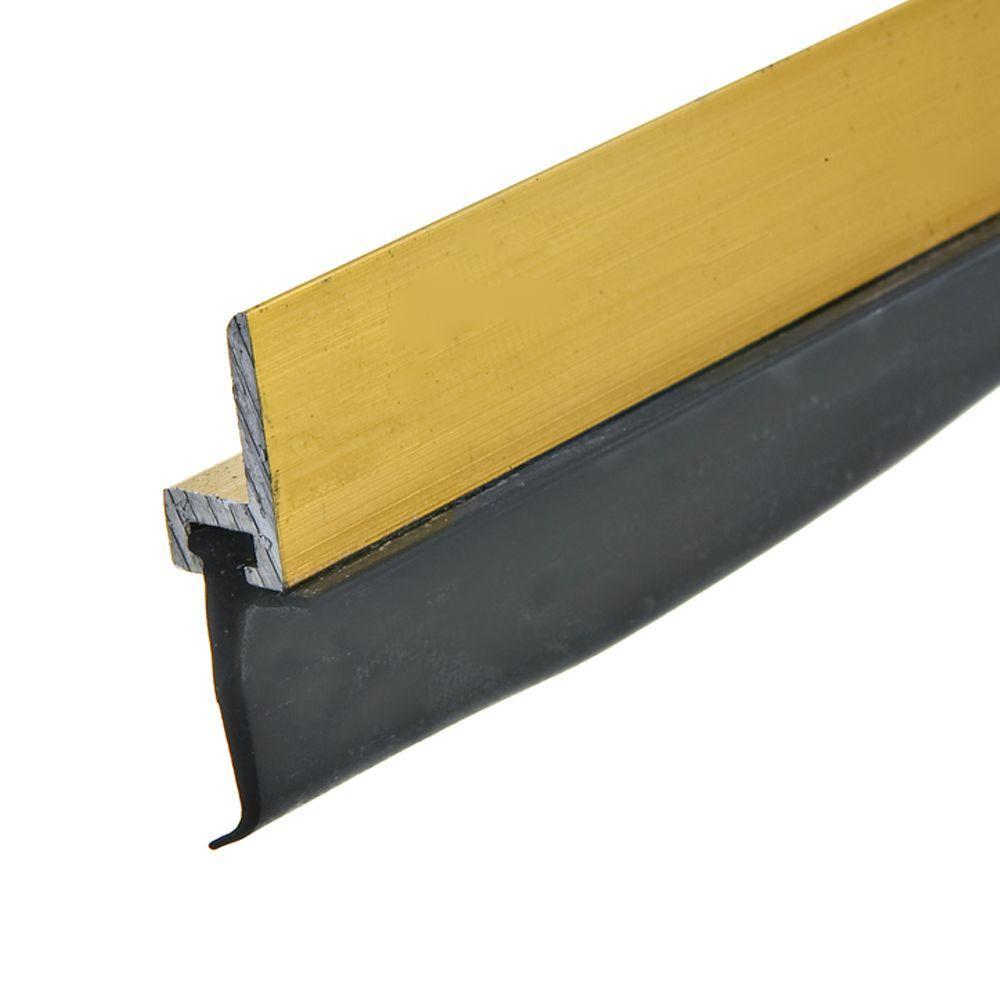 E/O 3/4 in. x 17 ft. Brite Gold Premium Aluminum and Rubber Door Set