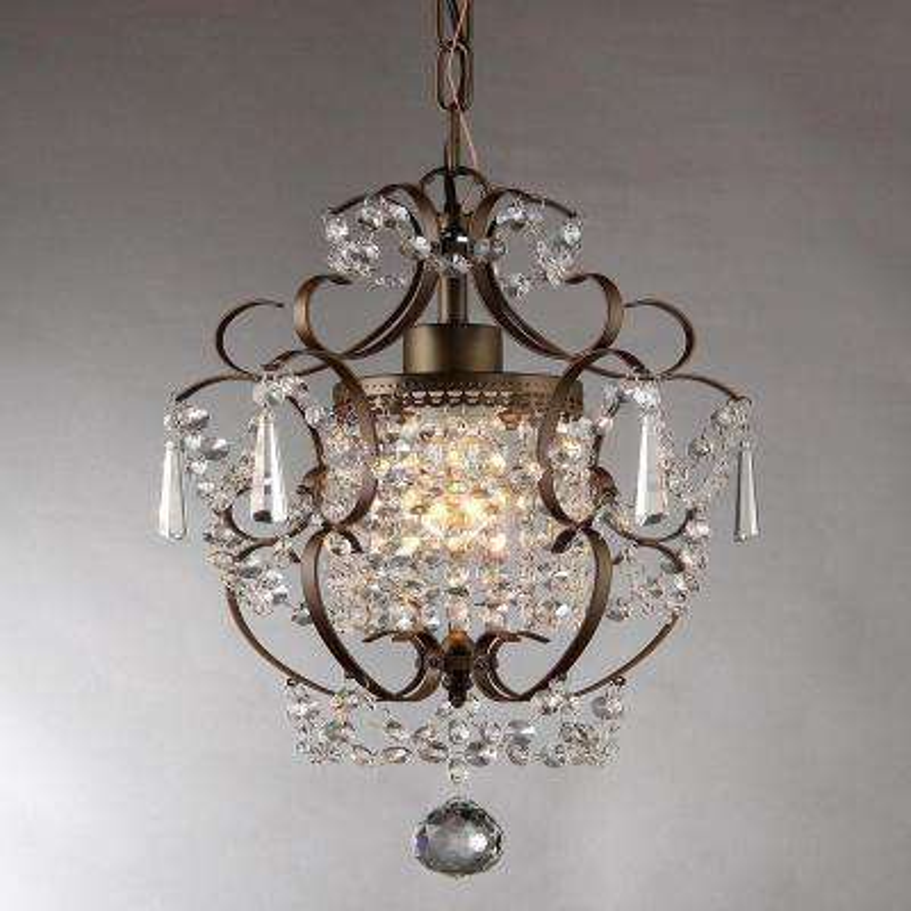 Crystal chandeliers lighting the home depot antique bronze indoor crystal chandelier aloadofball Images
