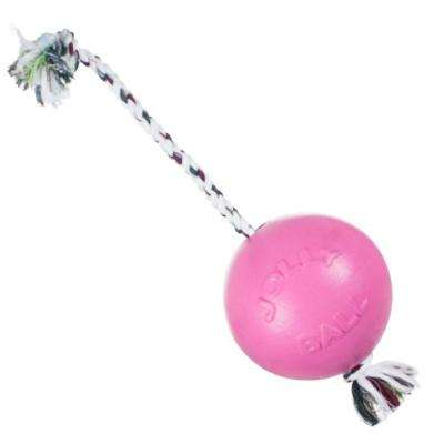 8 in. Pink Ball Dog Tug Toy