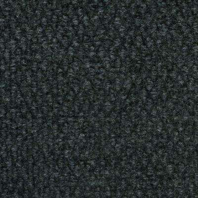 Caserta Black Ice Hobnail Texture 18 in. x 18 in. Indoor/Outdoor Carpet Tile (10 Tiles/Case)