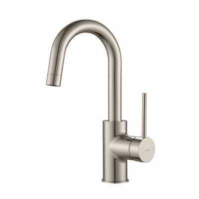 Oletto Single-Handle Kitchen Bar Faucet in Stainless Steel