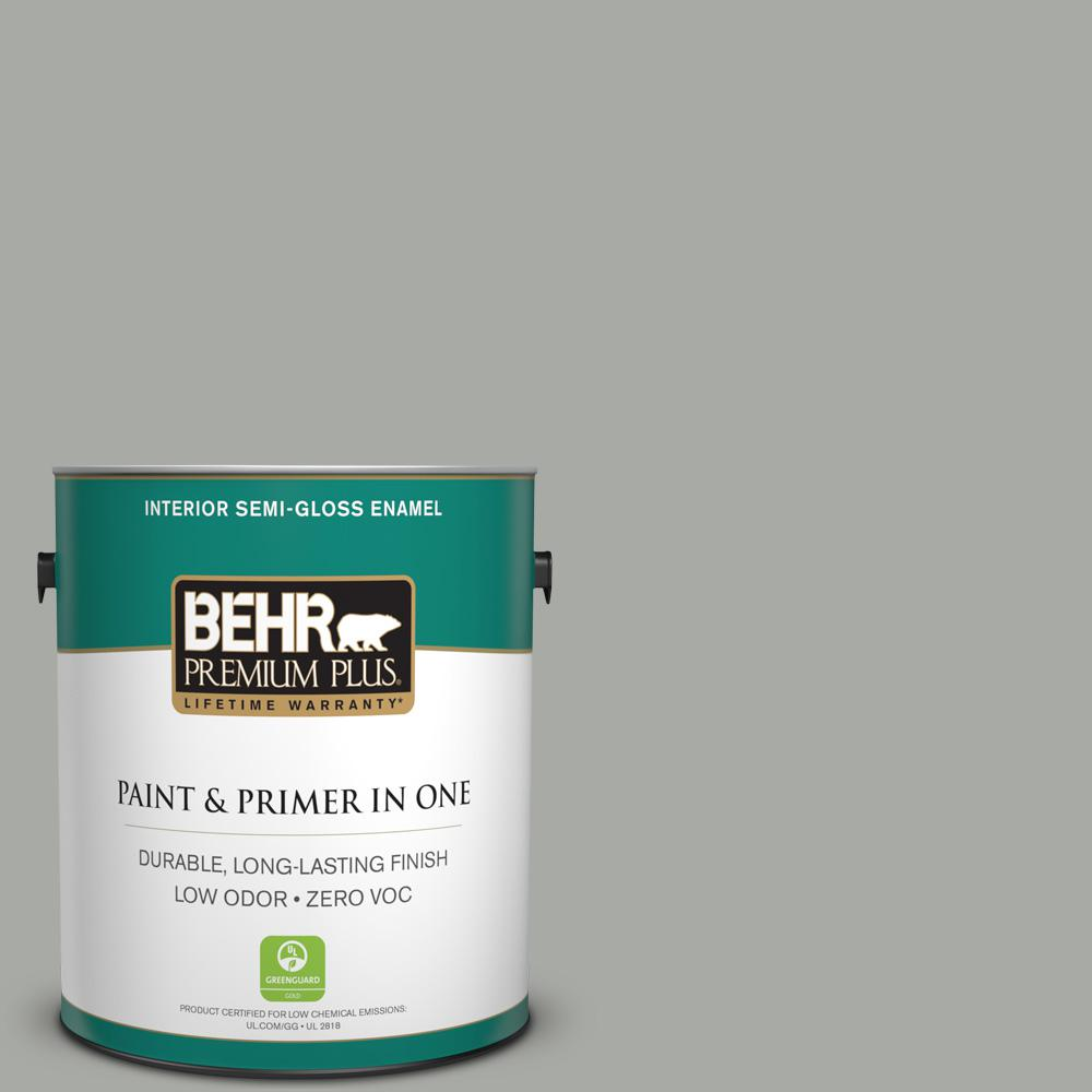 1 gal. #PPU25-15 Flipper Zero VOC Semi-Gloss Enamel Interior Paint