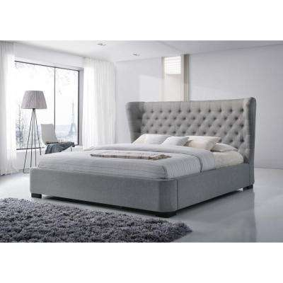 Manchester Gray King Upholstered Bed