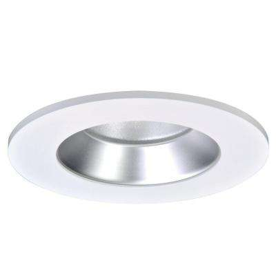 4 in. Haze Recessed Ceiling Light LED Reflector with White Trim