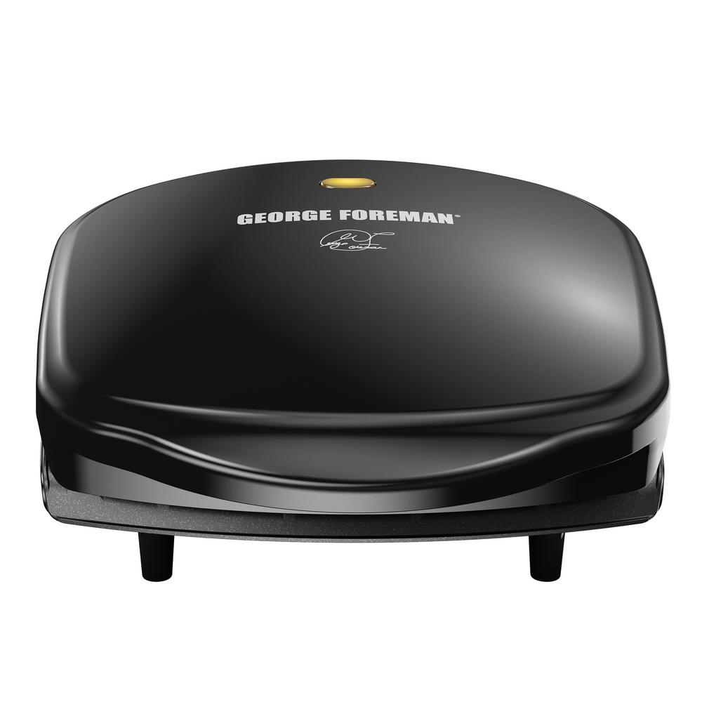 George Foreman 120 sq. in. Black Fixed Plate Indoor Grill