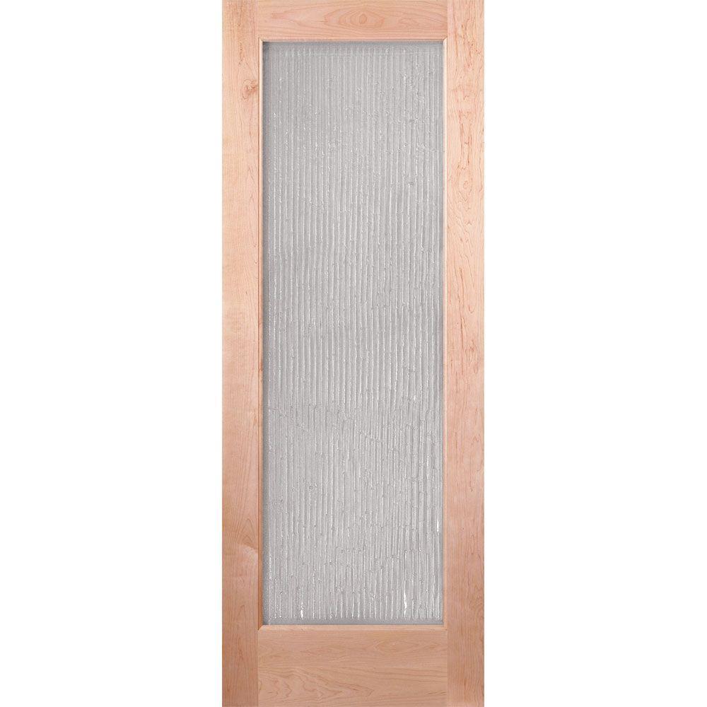 bamboo casting woodgrain 1 lite unfinished cherry interior door slab