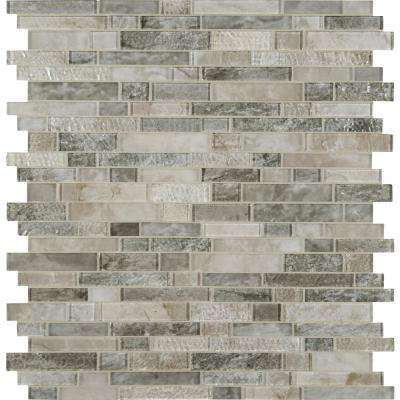Savoy Interlocking 12 in. x 12 in. x 8mm Glossy Glass Mesh-Mounted Mosaic Tile (10 sq. ft. / case)
