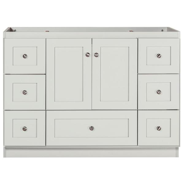 Shaker 48 in. W x 21 in. D x 34.5 in. H Bath Vanity Cabinet Only with Center Basins in Dewy Morning