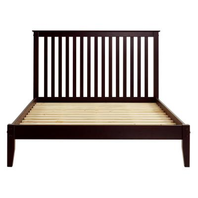 Shaker Style Cappuccino, Queen Size, Mission Headboard, Platform Bed