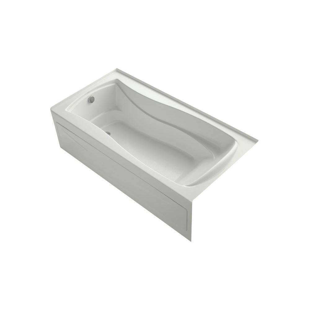 KOHLER Mariposa VibrAcoustic 6 ft. Rectangle Left Drain Soaking Tub in Dune