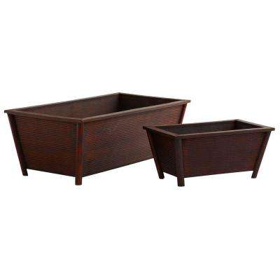 Rectangle Wood Planters (Set of 2)
