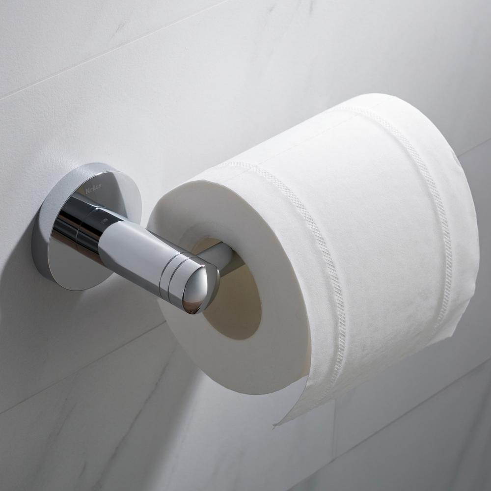 Elie Bathroom Toilet Paper Holder in Chrome