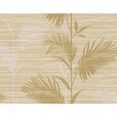Away On Holiday Beige Palm Wallpaper Sample