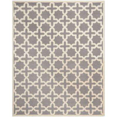 Cambridge Silver/Ivory 12 ft. x 16 ft. Area Rug