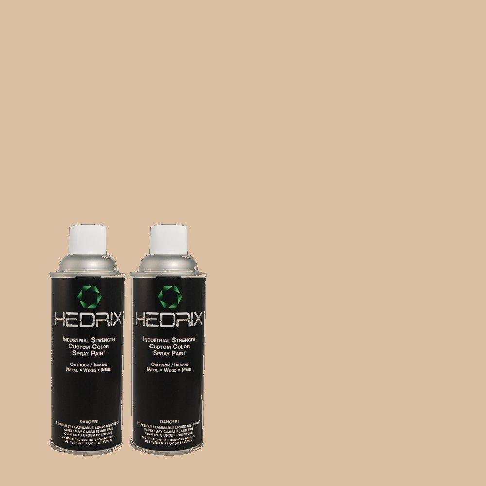 Hedrix 11 oz. Match of P-18 Adobe Flat Custom Spray Paint (2-Pack)