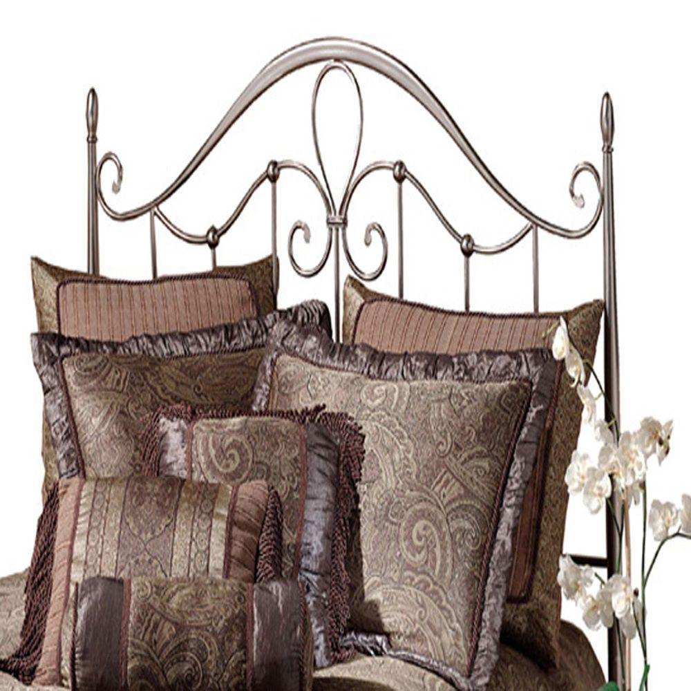 Hillsdale Furniture Doheny Antique Pewter Full and Queen-Size Headboard with Rails