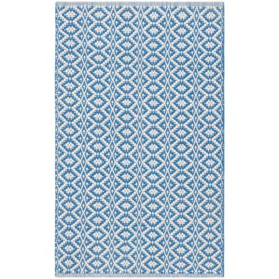 Montauk Ivory/Blue 2 ft. 3 in. x 3 ft. 9 in. Area Rug