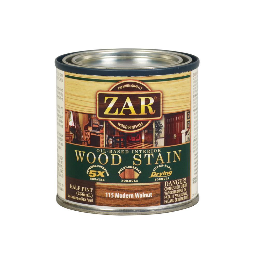Zar 115 8 Oz Modern Walnut Wood Interior Stain 2 Pack
