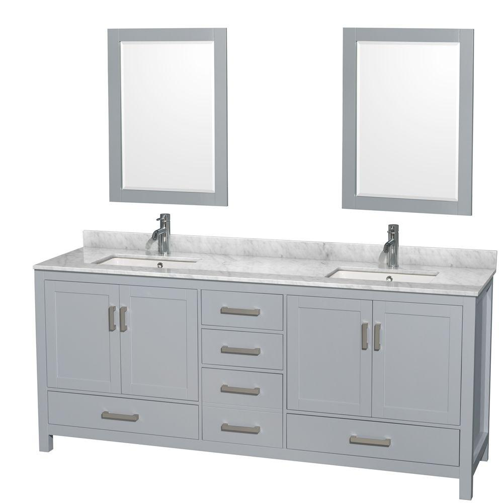 Wyndham Collection Sheffield 80 In W X 22 In D Vanity In