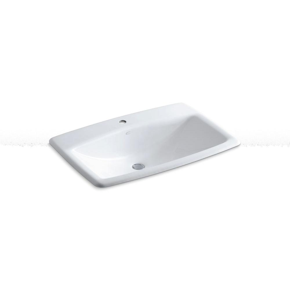Exceptionnel KOHLER Manu0027s Lav Drop In Cast Iron Bathroom Sink In White With Overflow  Drain