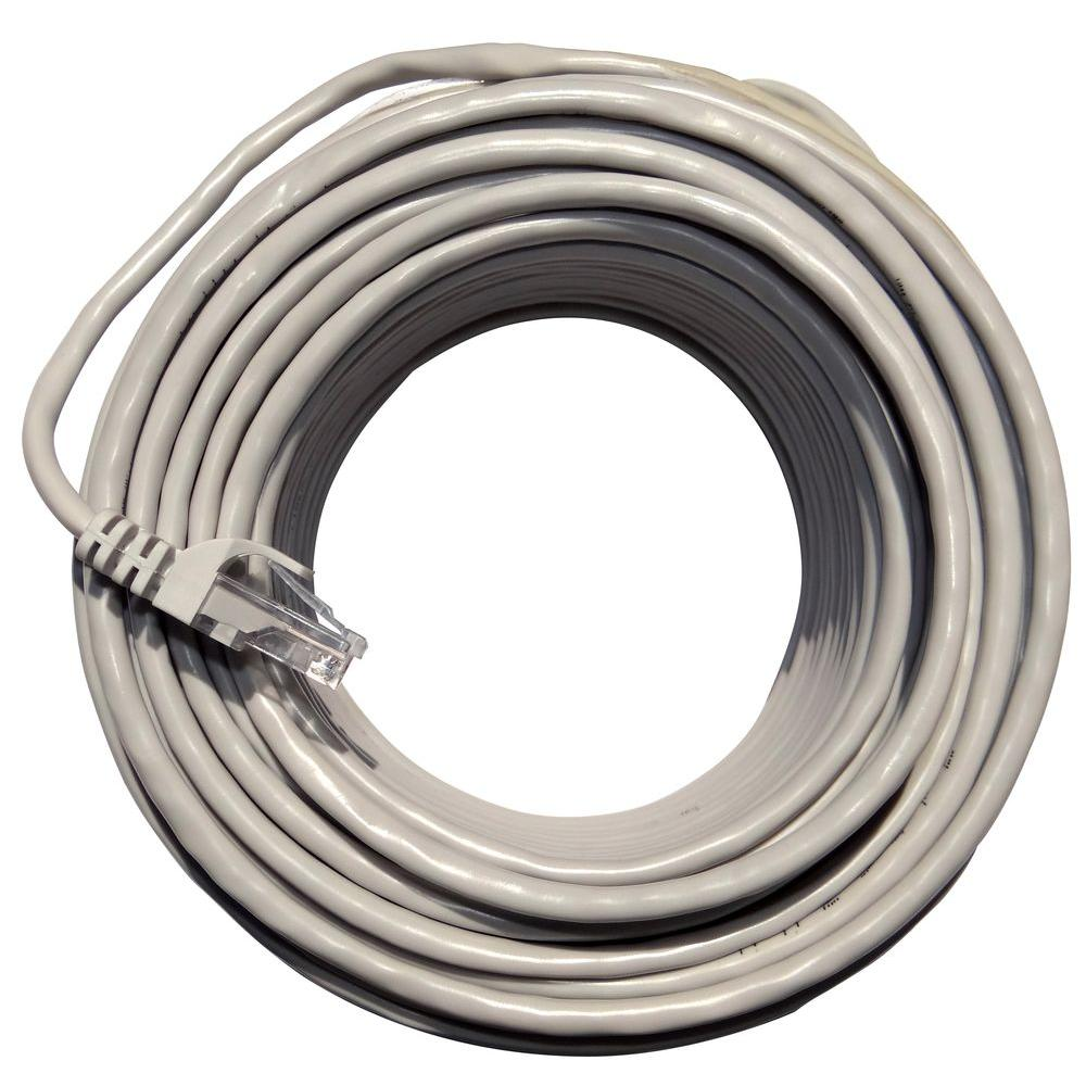 Q-SEE 100 ft. White Cat 5e Network Ethernet Cable-QS100N - The ...