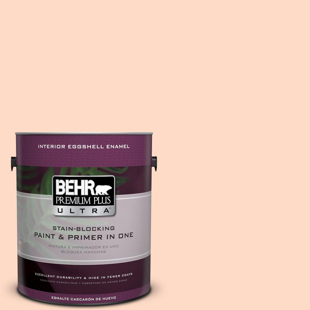 BEHR Premium Plus Ultra 1-gal. #250C-2 Sugared Peach Eggshell Enamel Interior Paint