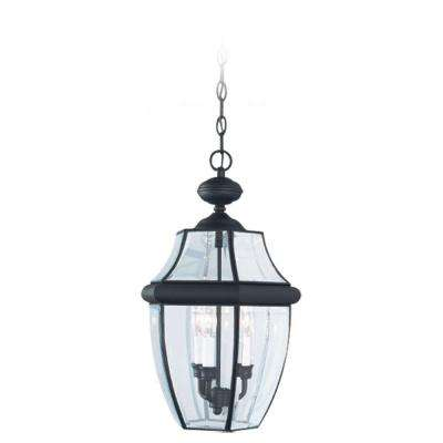 Lancaster 3-Light Black Outdoor Hanging Pendant