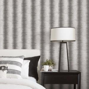 Grey And Black Faux Zebra Fur Wallpaper