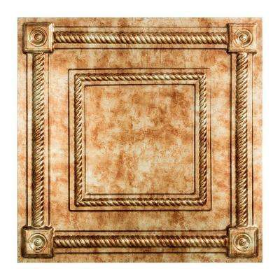 Coffer - 2 ft. x 2 ft. Vinyl Lay-In Ceiling Tile in Bermuda Bronze