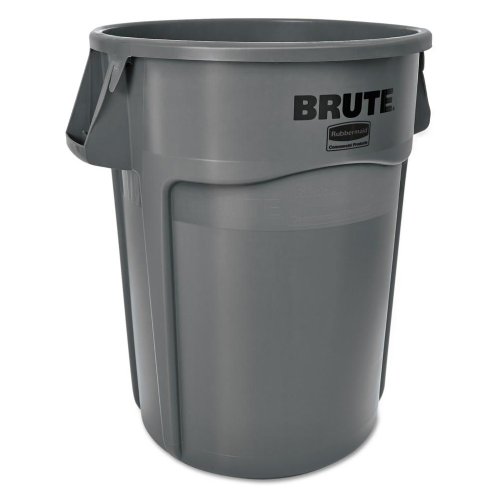 Rubbermaid Commercial Products Brute 55 Gal. Grey Round Trash Can