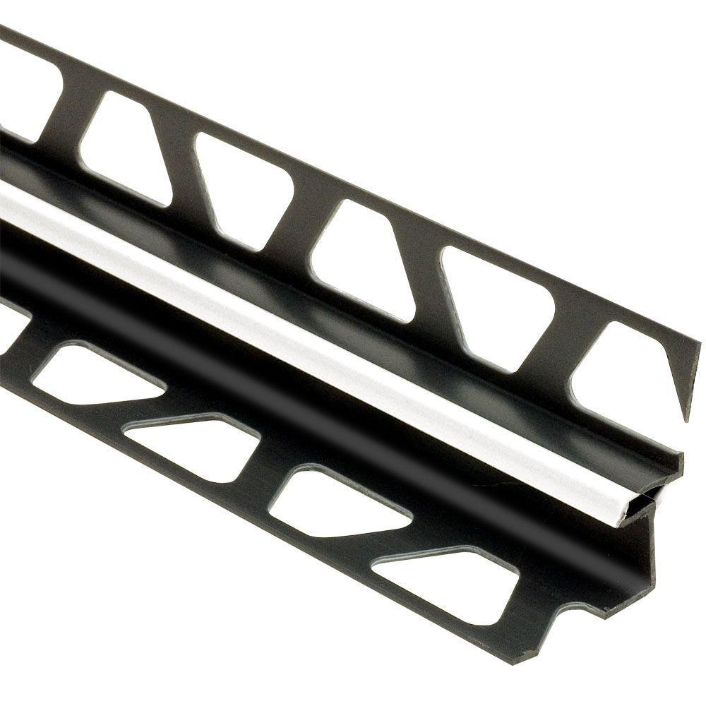Dilex-EKE Bright White 17/32 in. x 8 ft. 2-1/2 in. PVC Corner Movement Joint Tile Edging Trim