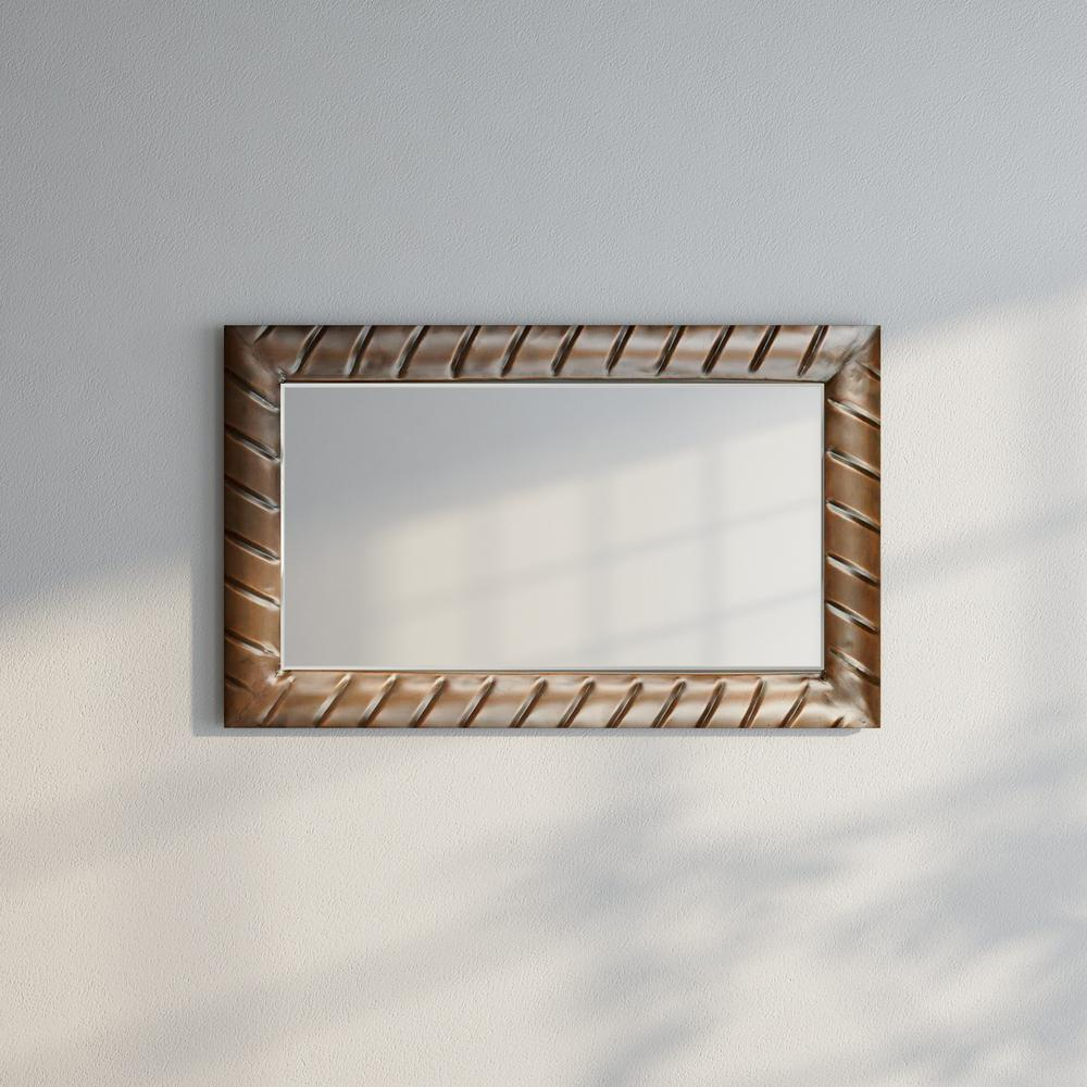 safavieh charmaine 36 in h x 22 in w rectangle framed mirror mir4059a the home depot. Black Bedroom Furniture Sets. Home Design Ideas