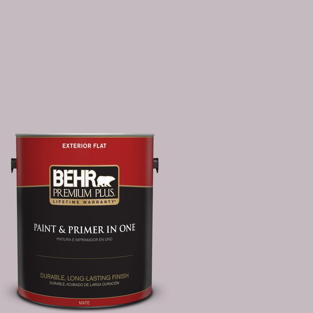 1-gal. #N110-2 Mulberry Stain Flat Exterior Paint