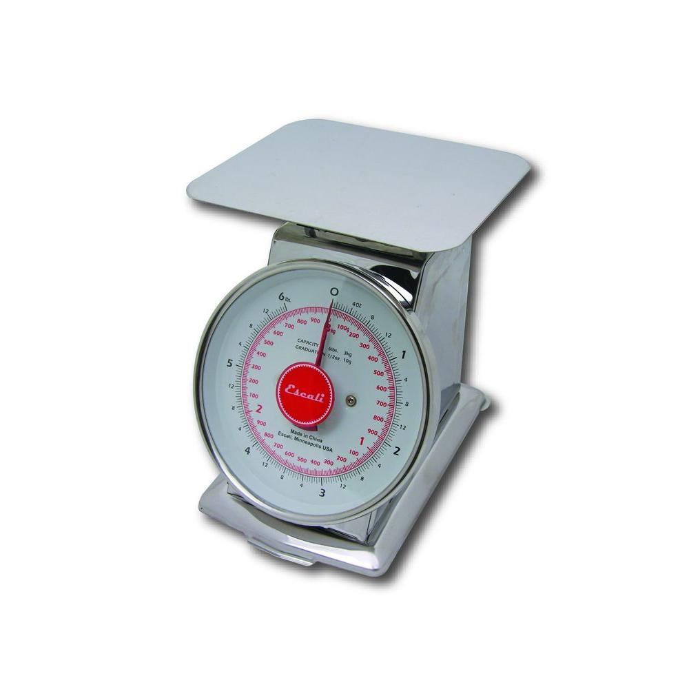 Escali 6 lb. Mercado Dial Food Scale with Plate-DISCONTINUED