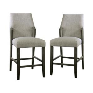 Klaudie 25.5 in. Gray Counter Height Chairs (Set of 2)