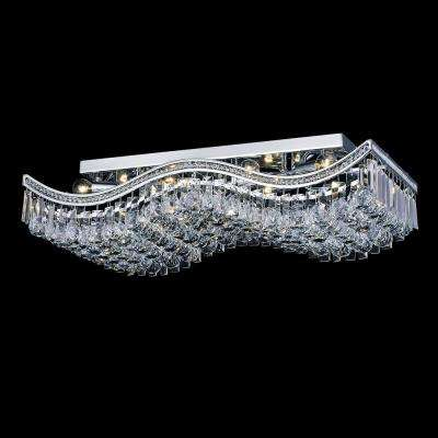 Ripple 10-Light Chrome Flushmount