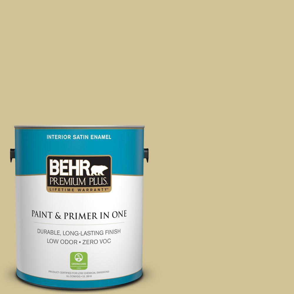 1-gal. #370F-4 Winter Mood Zero VOC Satin Enamel Interior Paint