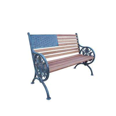 Proud American Patio Bench in Antique Verdi