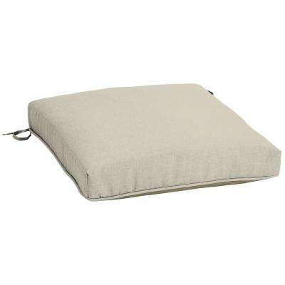 Sand Canvas Texture Reversible Snapdry Square Outdoor Seat Cushion