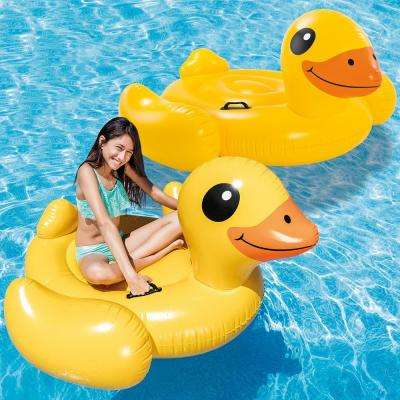 Yellow Duck Ride-On Pool Float (2-Pack)