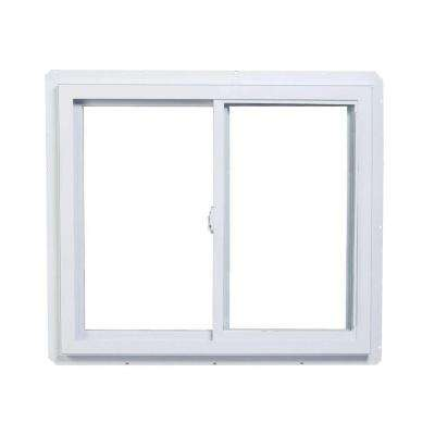 48 in. x 48 in. 70 Series Right-Handed Sliding White Vinyl Window with Nailing Flange
