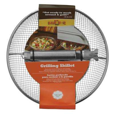 Stainless Steel Wire Mesh Grilling Skillet with Handle