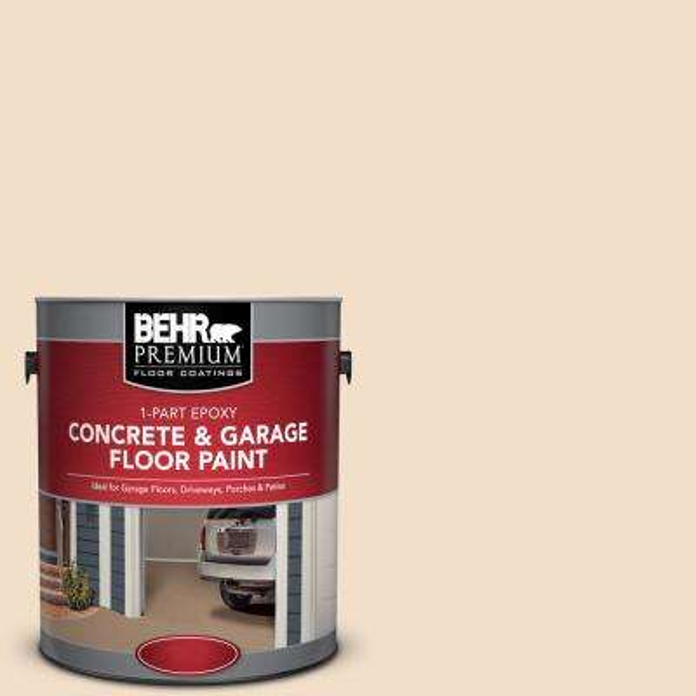1 gal. #S250-1 Macaroon Cream 1-Part Epoxy Concrete and Garage Floor Paint